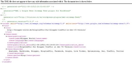 Google Sitemap News
