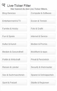 LiveBlogtickerKategorien