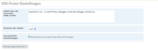 RSS Footer Deutsch